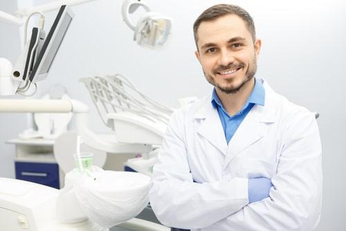 smiling male dentist